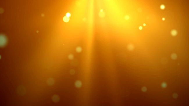 动态梦幻金黄光芒气泡飘落超高清视频素材