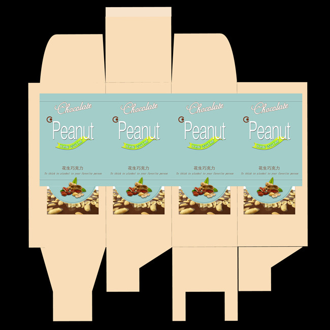 关键词: 食品包装设计 巧克力 花生味 包装设计psd分层设计 说明