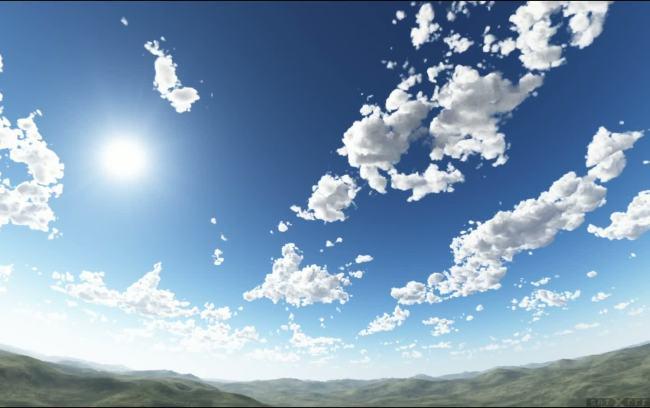 晴朗天空图片