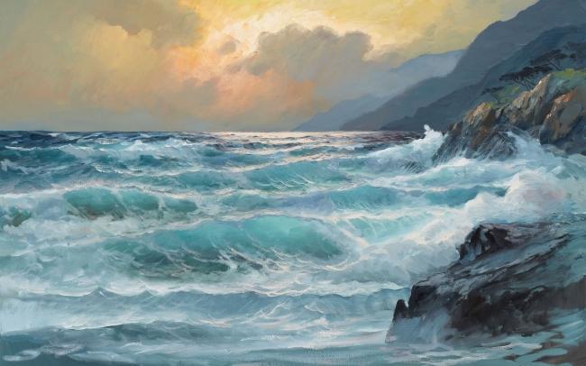 【jpg】大海 海洋 风景油画