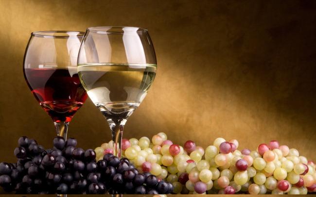 低调奢华唯美油画效果葡萄酒宣传
