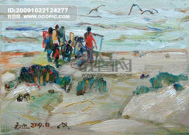 油画 画家 美术 艺术 艺术文化 中国油画 海南油画风景 海南风景 颜色