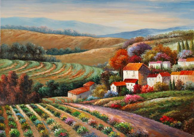 风景油画 无框画 装饰图 油画 油画风景 田园油画 唯美意境 唯美图