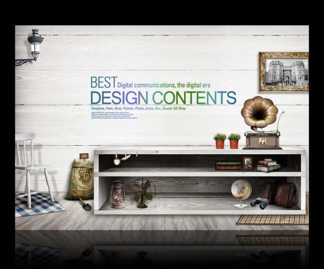 【psd】室内设计家装装修家具展板设计