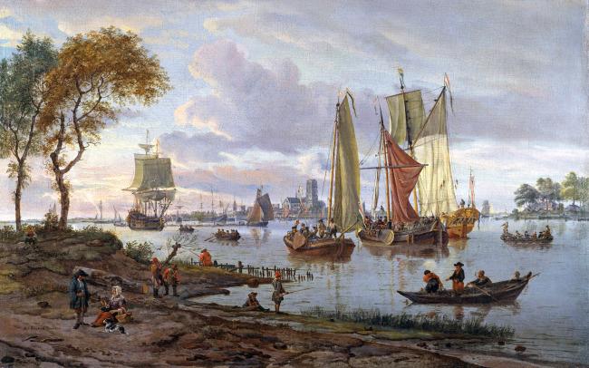 > 风景油画  关键词: 帆船 风景 风帆 出海 油画 艺术画 文艺复兴