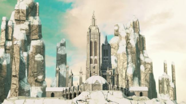 【mp4】雪山宫殿城堡动画视频背景素材下载