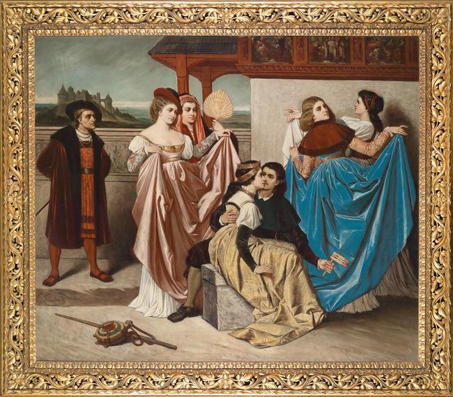 礼服 贵族油画 宫廷油画 人物油画 油画背景墙 聚会 舞会 说明:欧式油