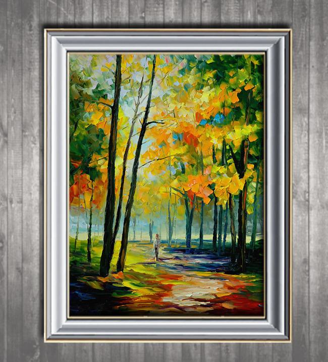 【psd】美丽风景欧洲风景油画