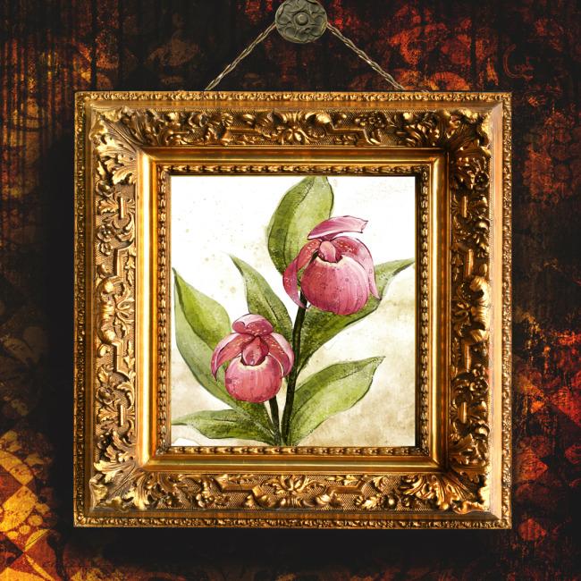 走廊装饰画 厕所装饰画 油画 手绘 彩绘 花卉 相框 画框 欧式相框