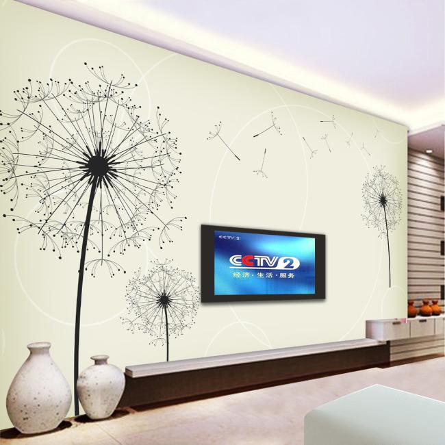 简约 淡雅 客厅 壁画 电视墙 背景墙 壁纸 墙壁 墙画 墙纸 墙体 手绘