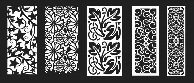 【cdr】雕刻镂空花纹矢量图