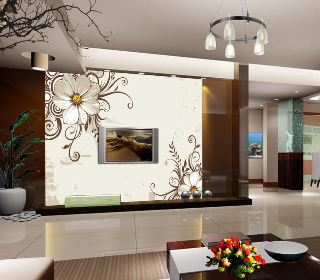 室内装饰 无框画 移门 背景墙