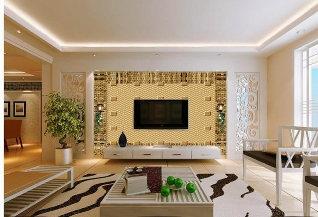 幾何裝飾背景墻 客廳電視背景墻 電視背景墻裝修效果圖 電視背景墻布