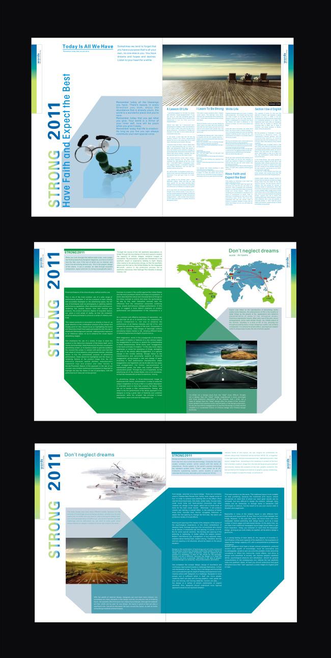 通用画册 简洁元素 插图扉页 设计素材 源文件 说明:画册版面设计