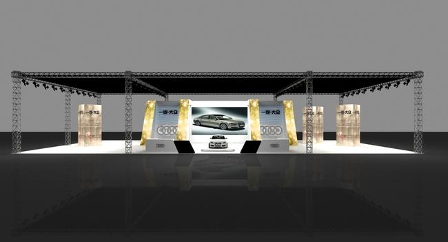 【max】车展展位舞台舞美设计效果图