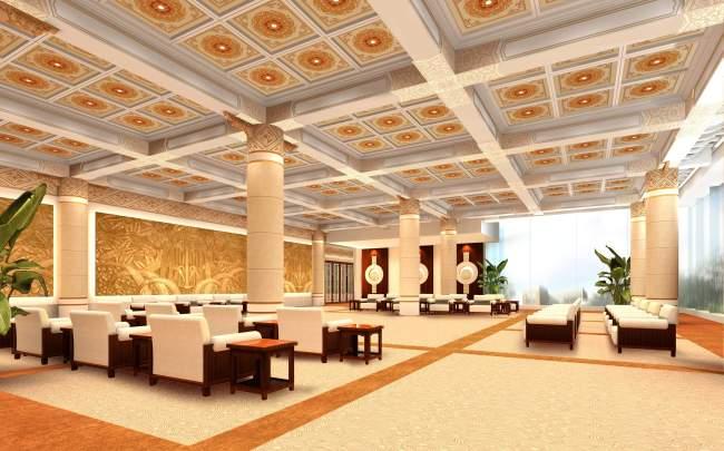 【jpg】大型餐厅效果图设计