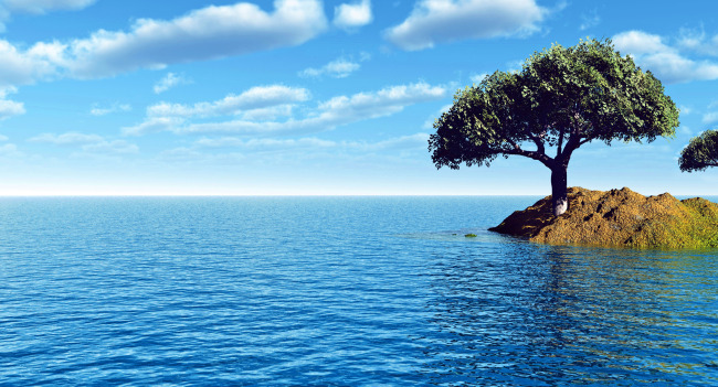 大海背景 大海风光 大海风景 大海图片 大海与小岛 小岛 小岛湖水