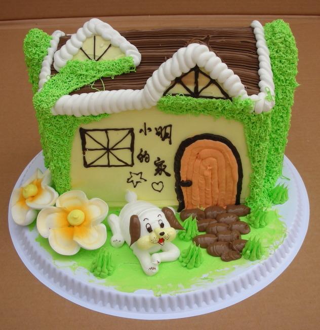 蛋糕欣赏 小动物 小房子