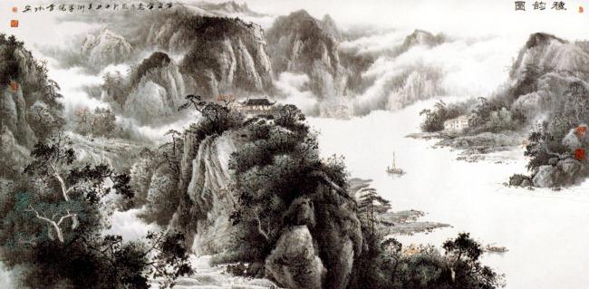 【jpg】山水畫 風景畫 水墨畫圖片