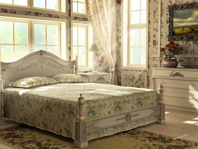 欧式床铺床单效果图