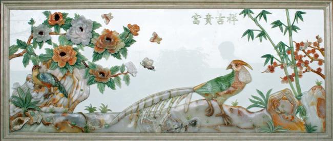 【jpg】玉石拼画室内装饰墙画贴图艺术画