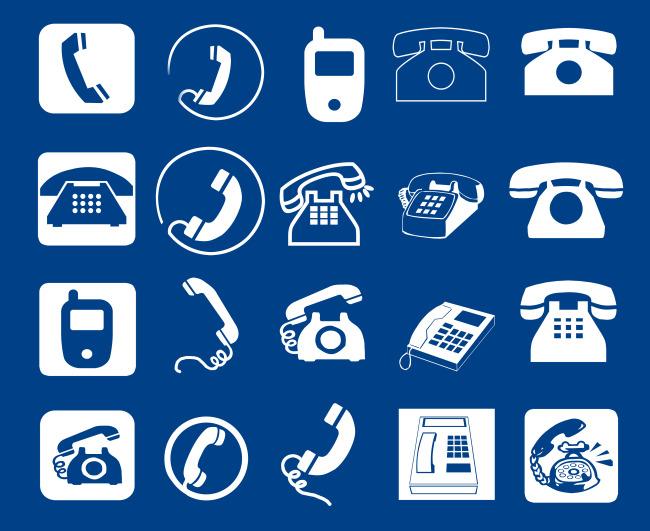 手机图标 扁平化图标 电话 电话标识 电话标志 热线 标志 座机 手机