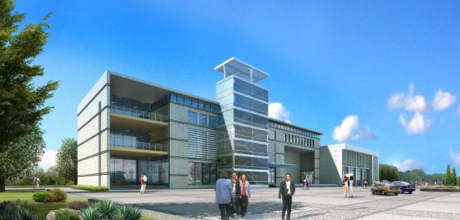 关键词: 现代简约会所3d模型室外效果图建筑表现效果图设计3d素材