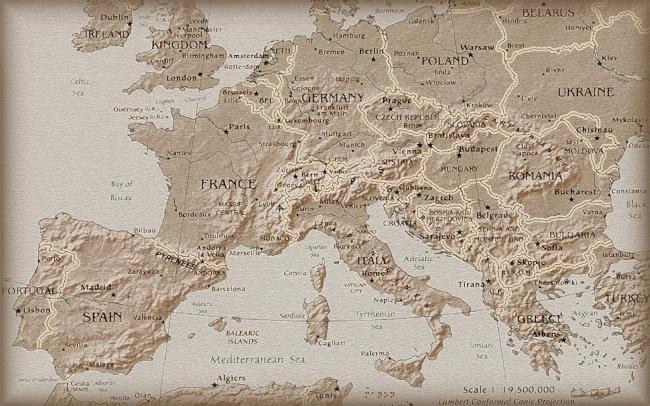高清手绘世界地图