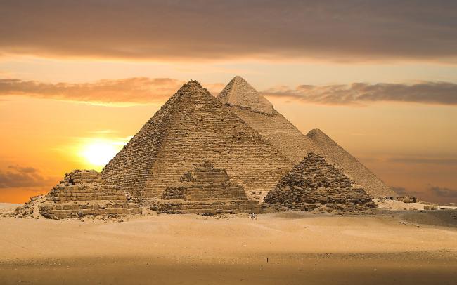 埃及金字塔与沙漠 风景素材