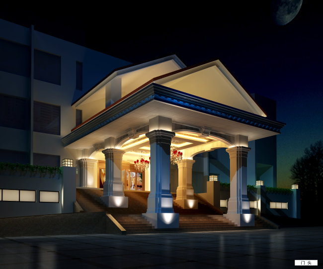 【jpg】建筑设计酒店门头设计高清效果图