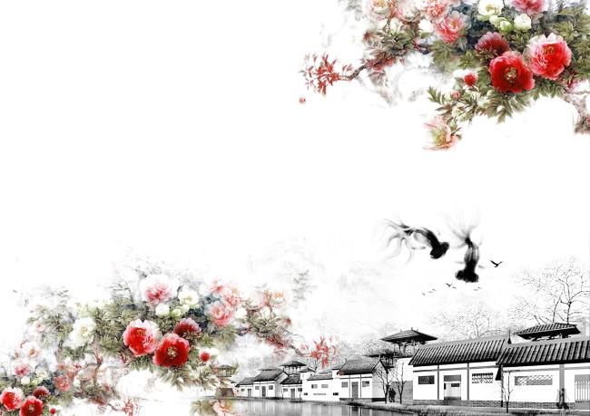 【jpg】唯美中国古代建筑插画