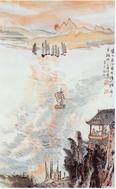 中国风 山水画 中国画 中国绘画 水彩画 花鸟图 水墨画 风景画 工笔画