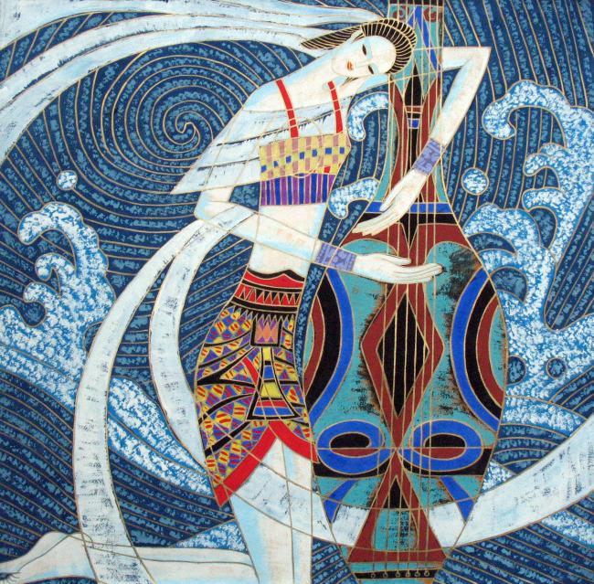 民族特色 壁画 水彩 水粉画