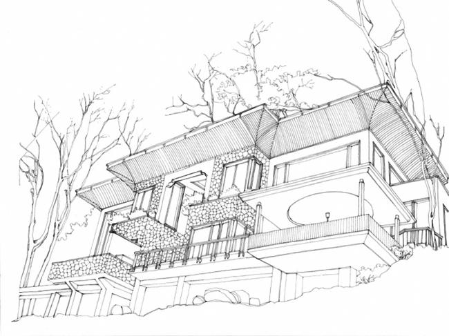 关键词: 素描 素描素材 素描图 素描背景 素描画 别墅素描 素描设计