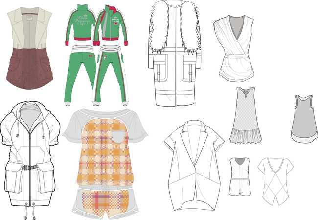 其它模板 服装|t恤|衣裤鞋帽设计 > 2014春夏秋冬流行服装款式图下载图片