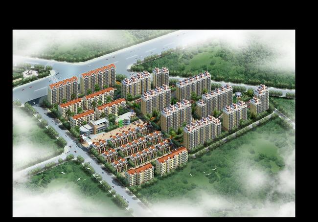 住宅鸟瞰大门幼儿园别墅3d模型