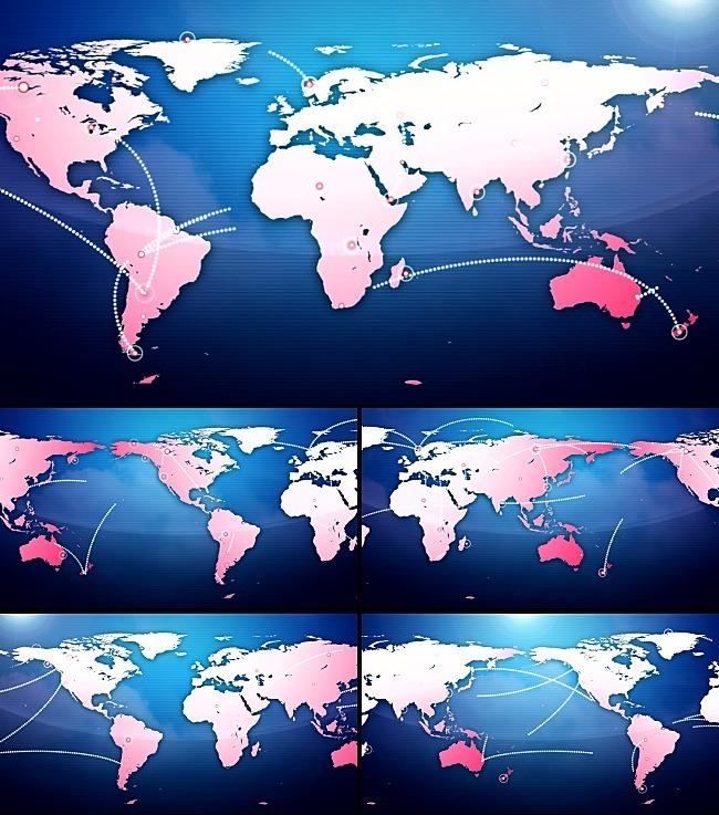 【mov】科技金融地图信息传达高清背景视频素材