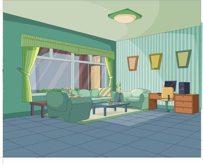 客厅场景 茶几 现代 源文件模板下载 动画场景 动画设计 背景素材