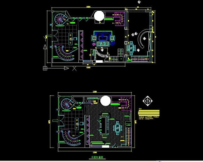 【dwg】楼梯专卖店平面设计图cad模板下载