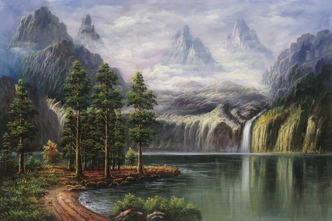 装饰画 装饰画 室内装饰画 家居装饰画图片 唯美风景 装饰画图片 油画
