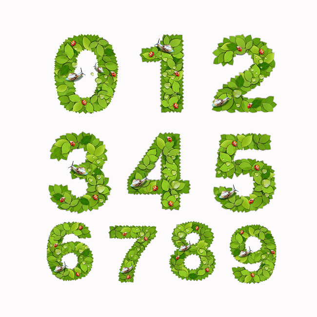 【psd】创意数字艺术字体设计