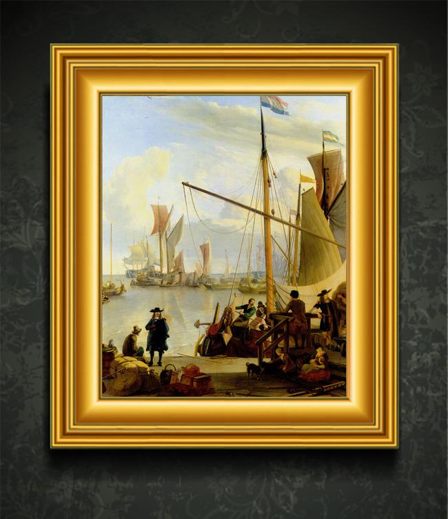 欧洲古典现代 油画风景装饰画 欧洲现代著名画家油画 说明:高清世界著