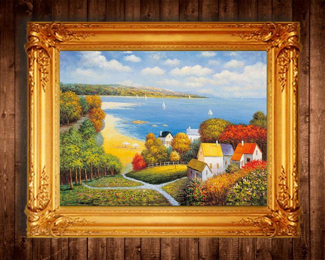 家庭 客厅 卧室 欧洲古典现代 油画风景装饰画 欧洲现代著名画家油画