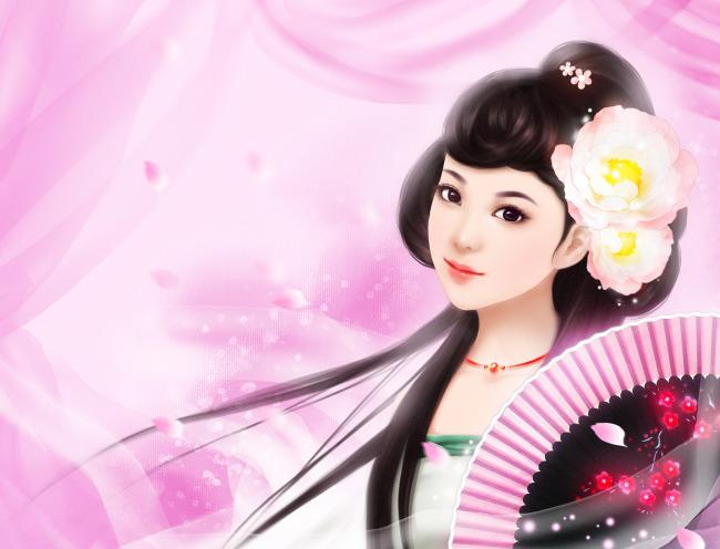 【jpg】古装唯美美女插画壁纸