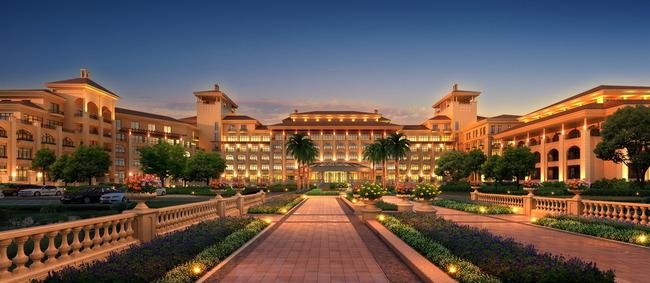关键词: 酒店 别墅 建筑效果图 度假村 夜景 亮化 室外设计 环境设计