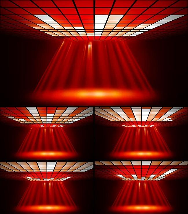 【mov】红色舞台灯光动感光影高清视频背景素材