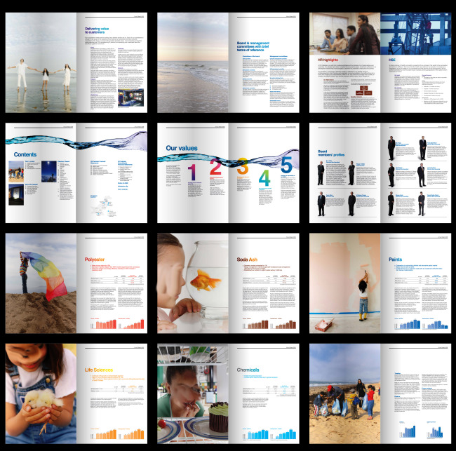 企业画册(整套) > 童真人物画册  排版设计欣赏 设计手册 创意画册