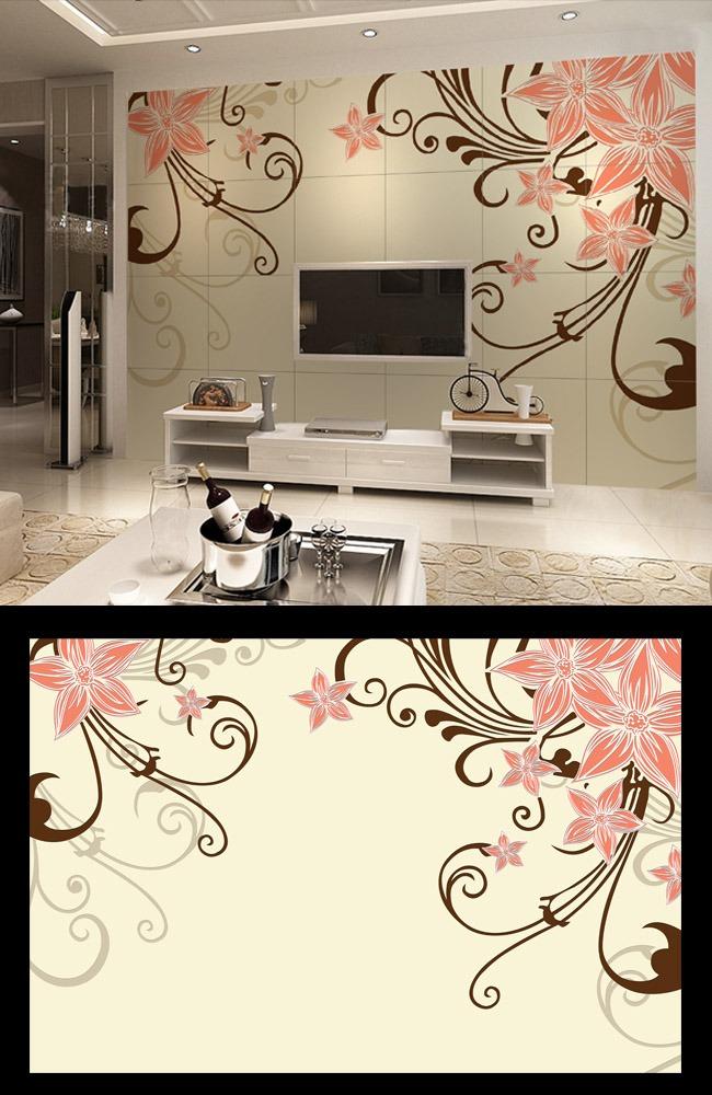 > 手绘花纹现代电视背景墙  关键词: 手绘花纹现代电视背景墙 欧式