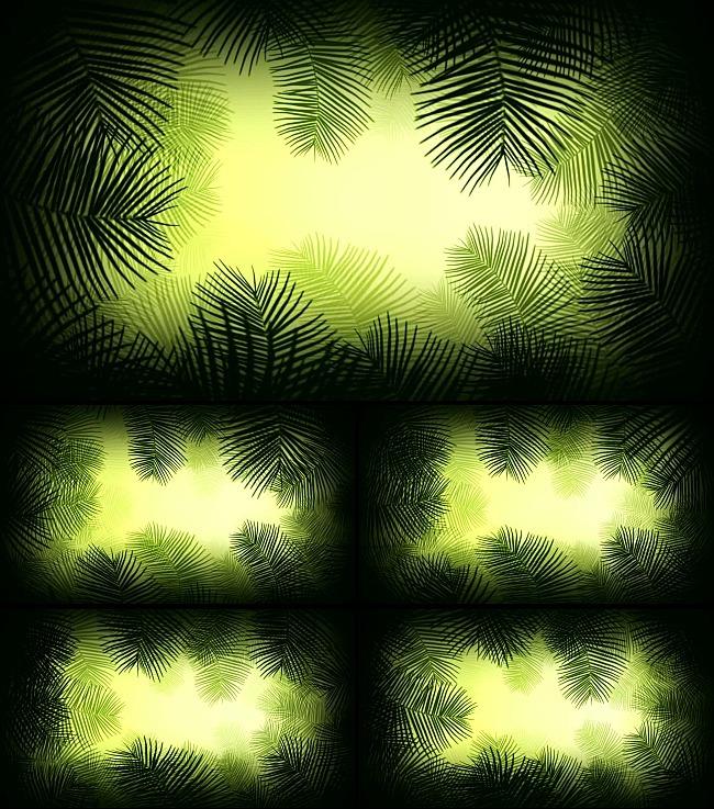 > 绿色树叶背景动态视频素材  关键词: 绿色背景树叶 鲜花 花瓣 飘落