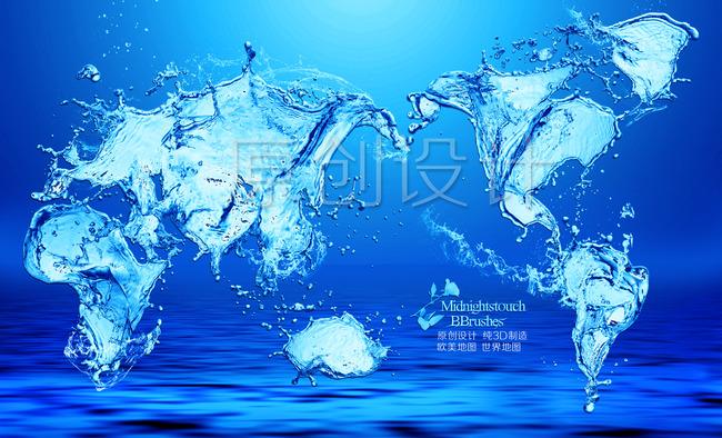 水花 喷溅的水